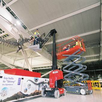 Amazing 2-day dinosaur installation at Heathrow Terminal 5