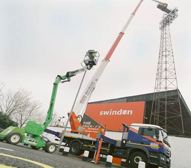 AFI-Uplift and Wilson Access score on joint project installing flood lighting at Swindon Town FC